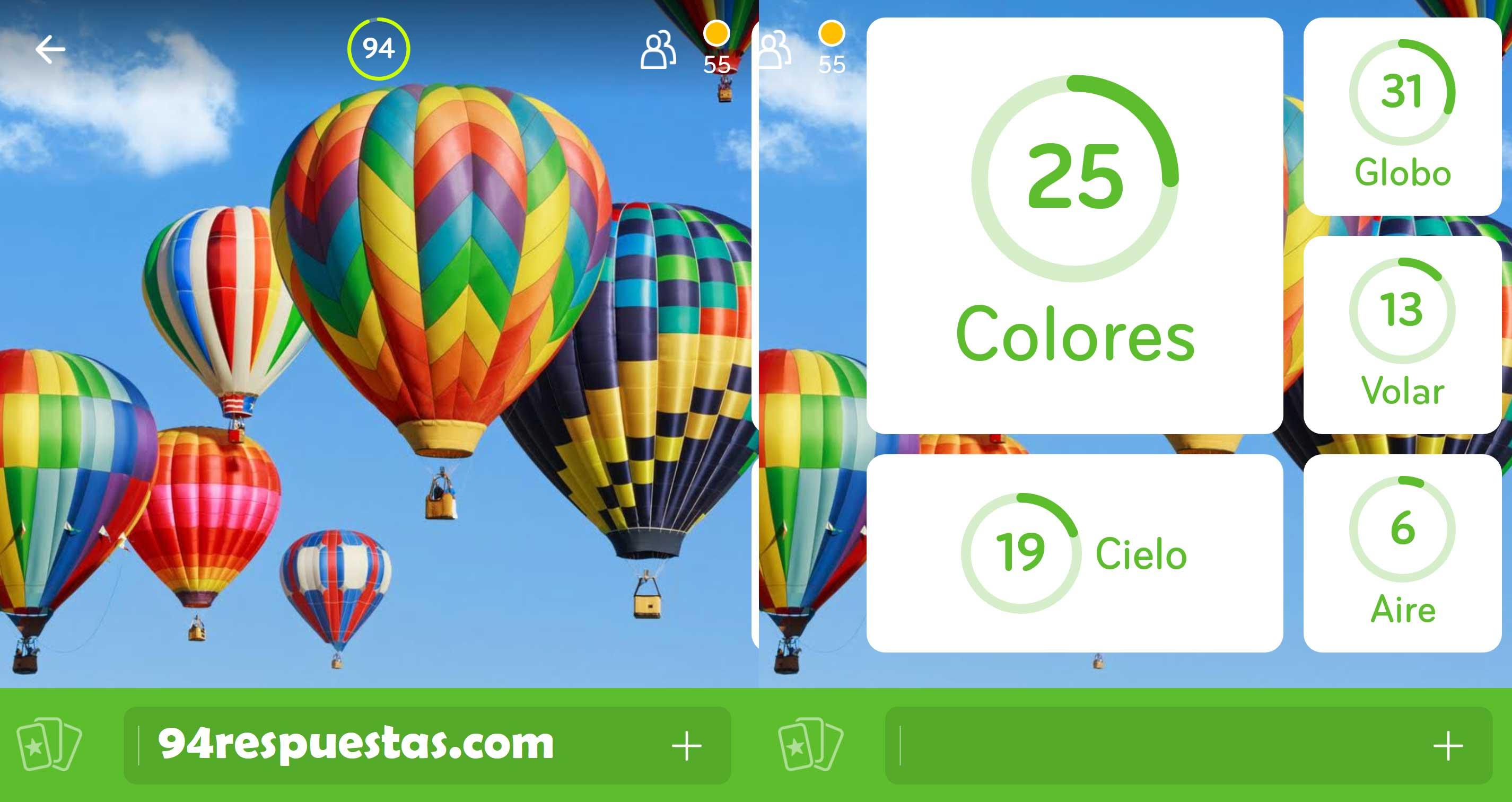 Imagen Globo Colores | 94 por ciento | 94 Respuestas | Soluciones ...
